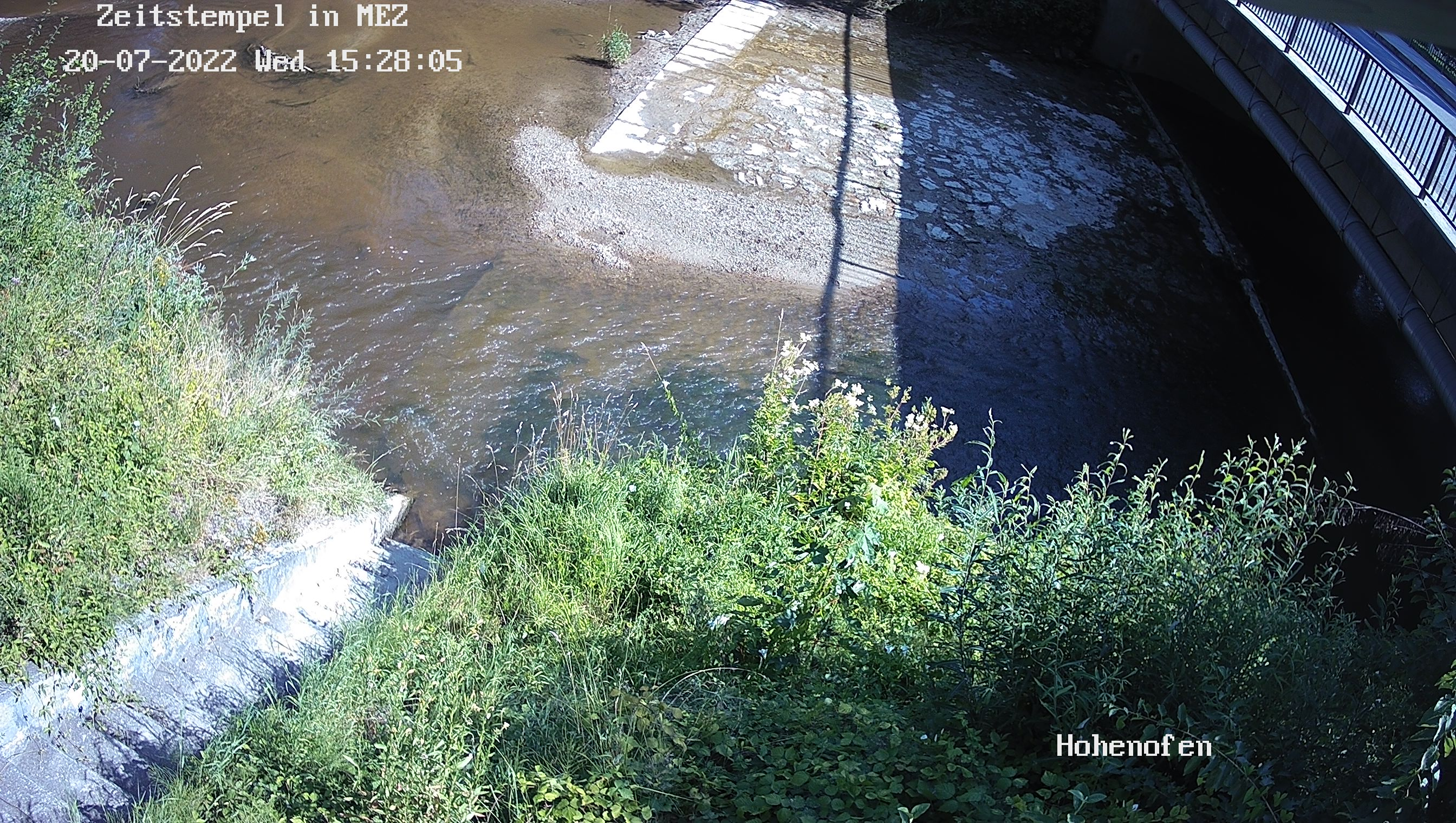Aktuelles Webcambild Pegel Hohenofen-Kaltenbach